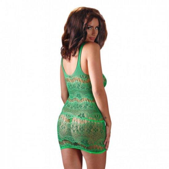Πράσινο δαντελένιο σέξυ εφαρμοστό μίνι φορεματάκι