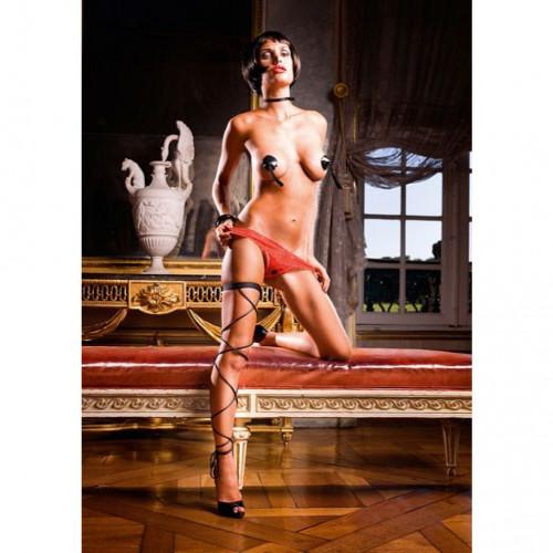 Baci Crotchless Red Lace Thong