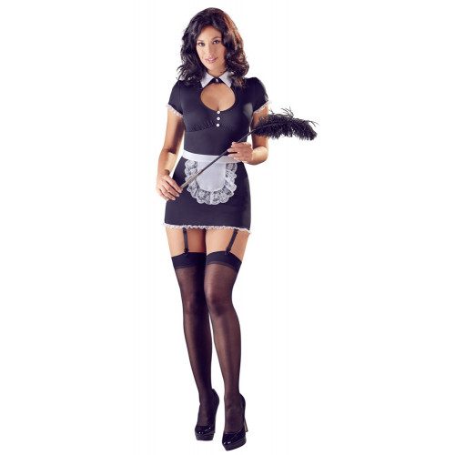 Cottelli Hot Maid Dress With Garters