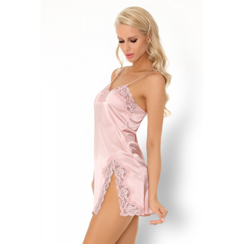 Ainhoan Negligee Set with babydoll and String Light Pink