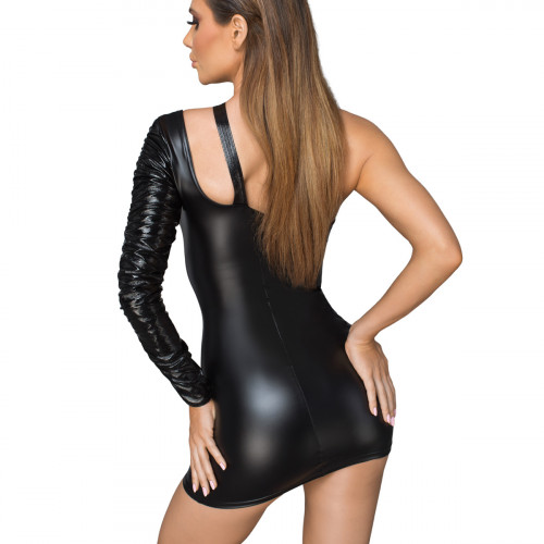 Noir Handmade Asymmetrical Powerwetlook Minidress