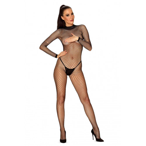 Obsessive Spicy Fishnet Crotchless Catsuit