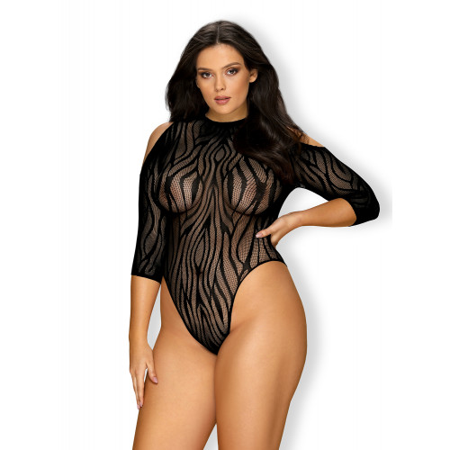 Plus Size Obsessive Hot Teddy with Zebra Pattern